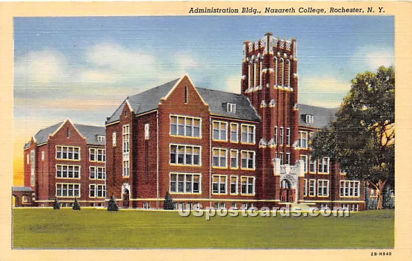 Administration Building, Nazareth College - Rochester, New York NY Postcard