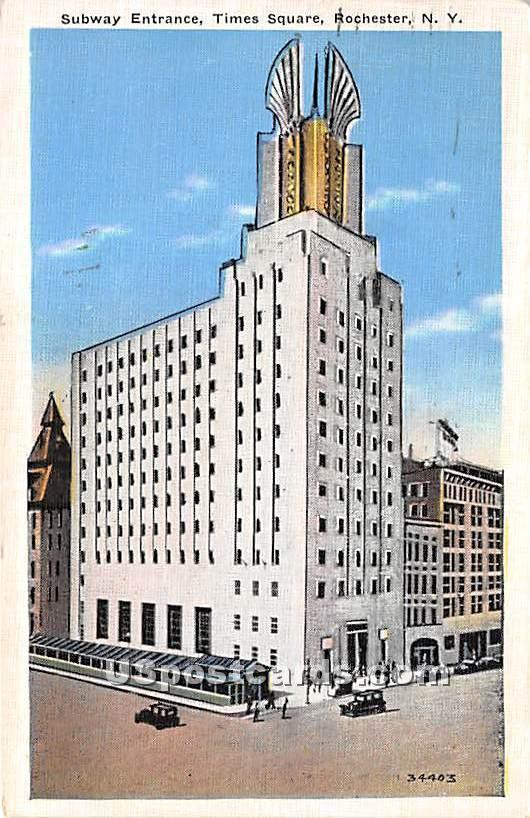Subway Entrance, Times Square - Rochester, New York NY Postcard