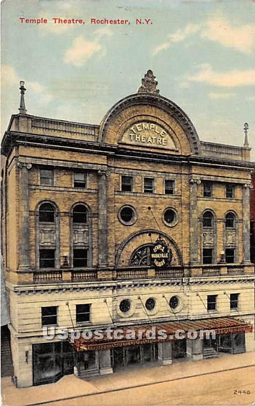 Temple Theatre - Rochester, New York NY Postcard