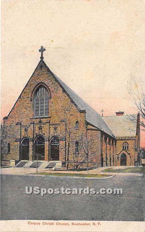 Corpus Christi Church - Rochester, New York NY Postcard