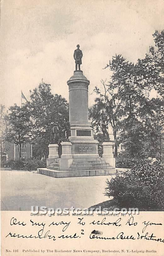 Soldiers & Sailors Monument - Rochester, New York NY Postcard