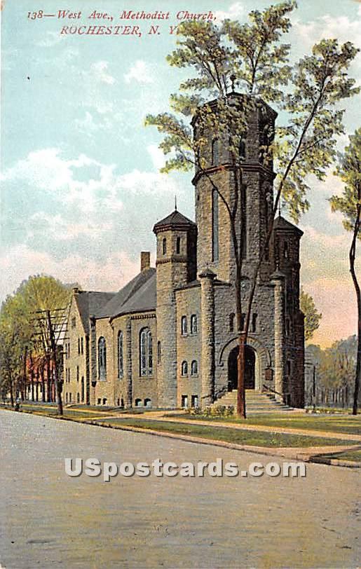 Methodist Church - Rochester, New York NY Postcard