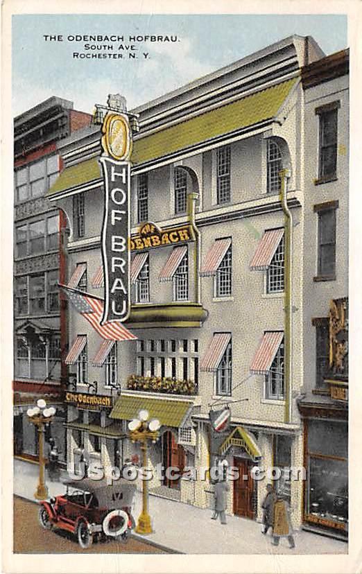 Odenbach Hofbrau - Rochester, New York NY Postcard