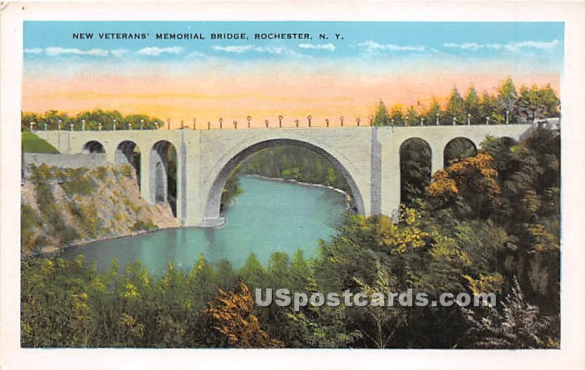 New Veterans' Memorial Bridge - Rochester, New York NY Postcard