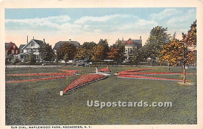 Sun Dial, Maplewood Park - Rochester, New York NY Postcard