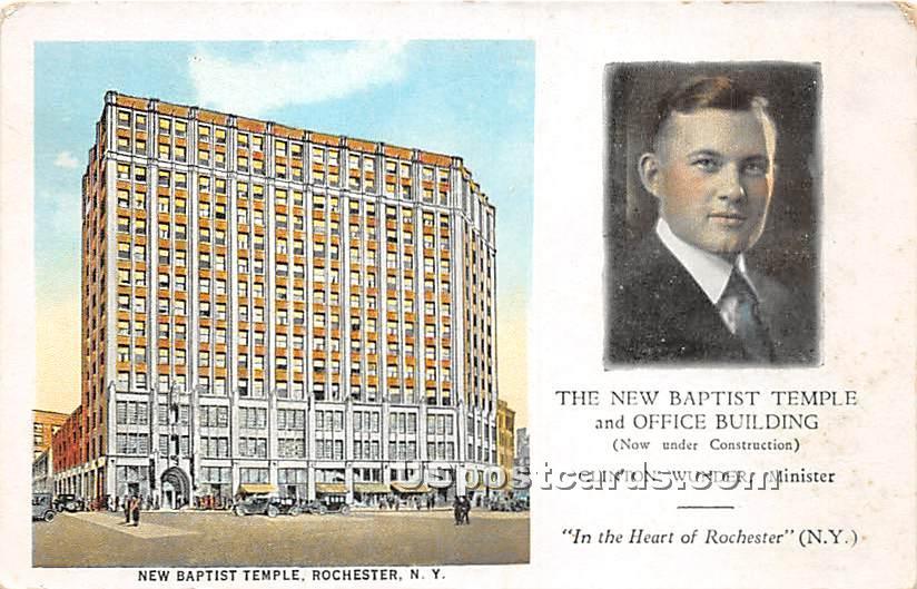 New Baptist Temple - Rochester, New York NY Postcard