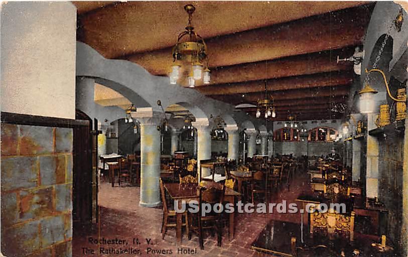 Rathskeller, Powers Hotel - Rochester, New York NY Postcard
