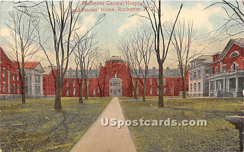 Rochester General Hospital & Nurses' Home - New York NY Postcard