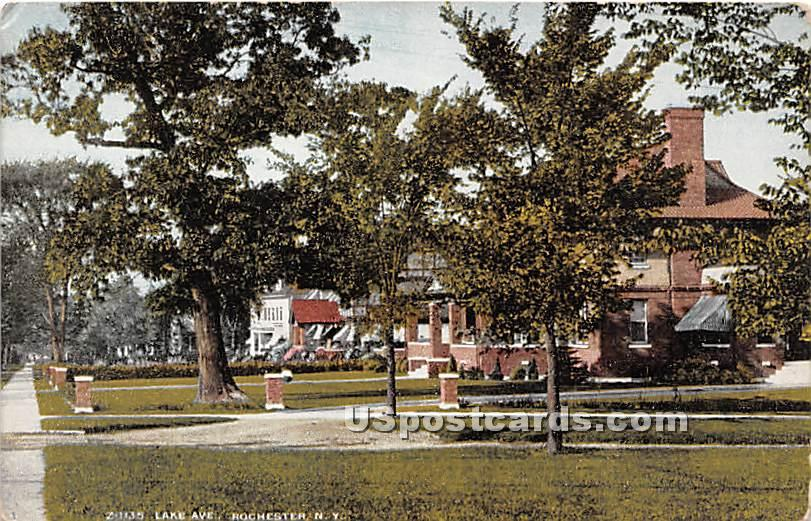 Lake Avenue - Rochester, New York NY Postcard