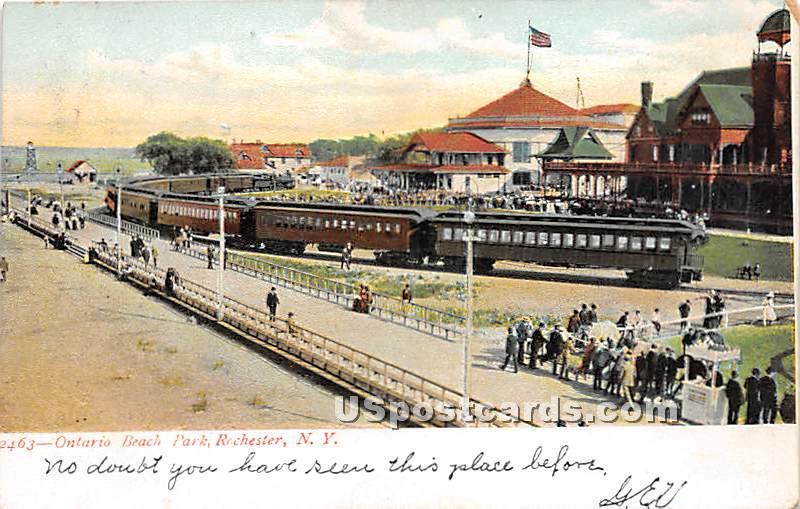 Ontario Beach Park - Rochester, New York NY Postcard
