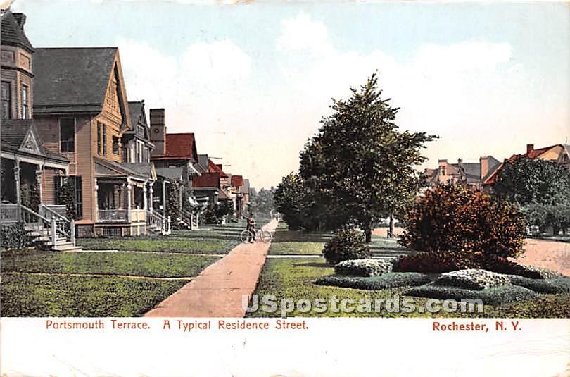 Portsmouth Terrace - Rochester, New York NY Postcard