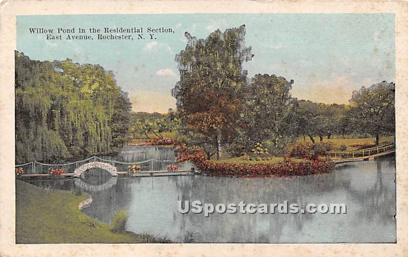Willow Pond, Residential Section - Rochester, New York NY Postcard