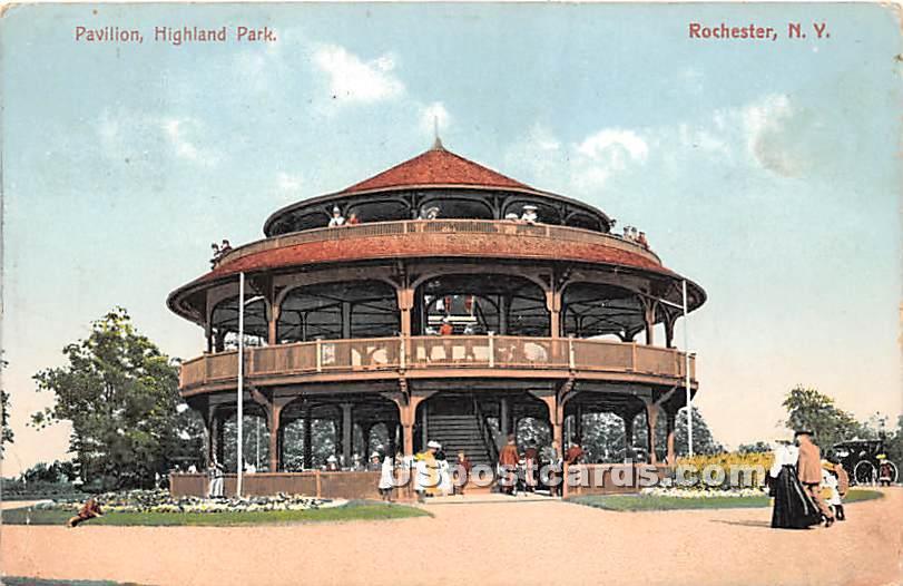 Pavilion, Highland Park - Rochester, New York NY Postcard