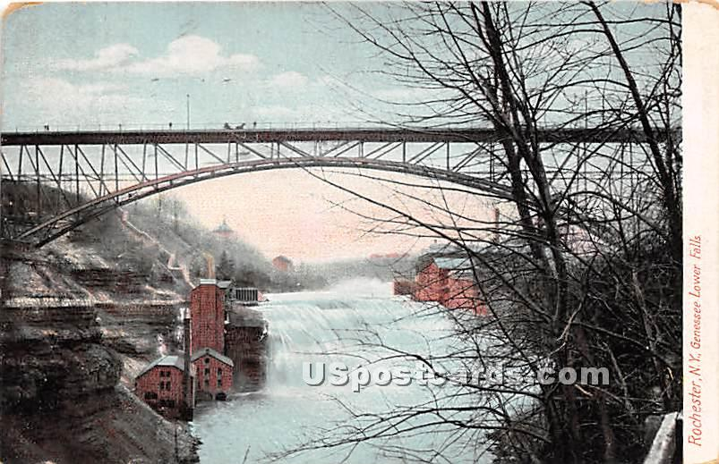 Genessee Lower Falls - Rochester, New York NY Postcard