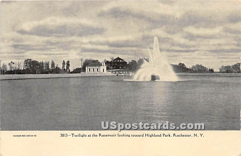 Reservoir, Highland Park - Rochester, New York NY Postcard