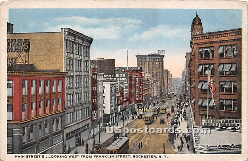 Main Street - Rochester, New York NY Postcard