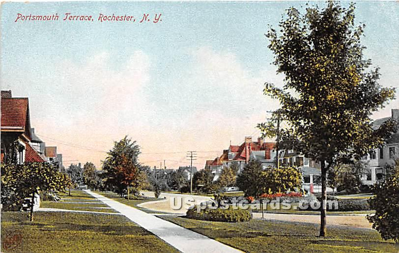 Portsmouth Terrace - Rochester, New York NY Postcard