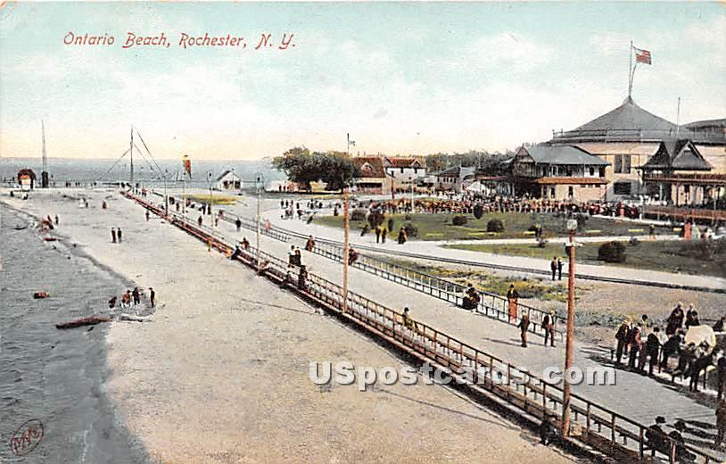 Ontario Beach - Rochester, New York NY Postcard