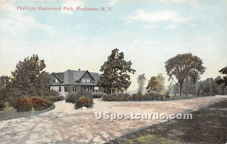 Pavilion, Maplewood Park - Rochester, New York NY Postcard