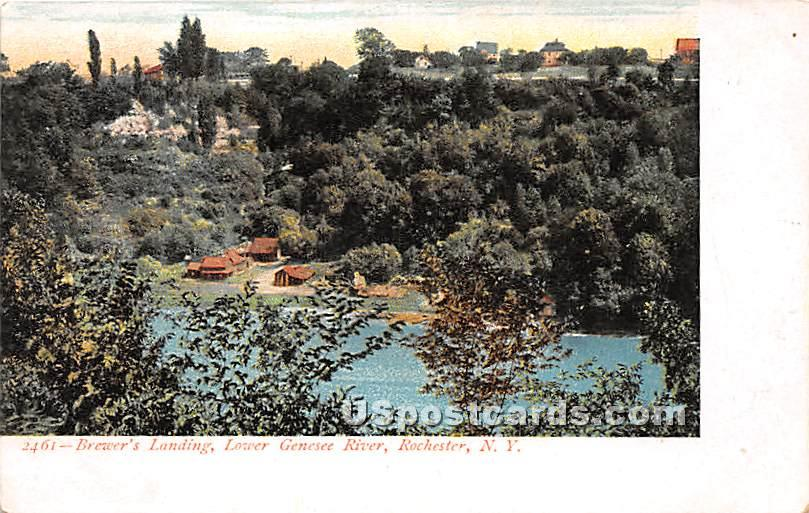 Brewer's Landing, Lower Genesee River - Rochester, New York NY Postcard