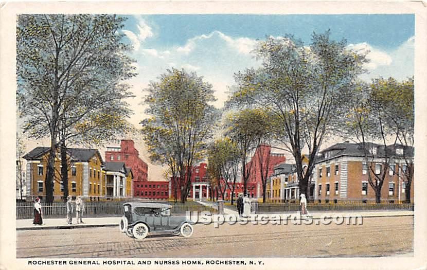 Rochester General Hospital & Nurses' Home - New York NY Postcard
