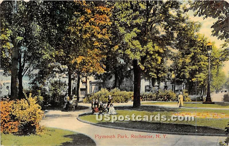 Plymouth Park - Rochester, New York NY Postcard