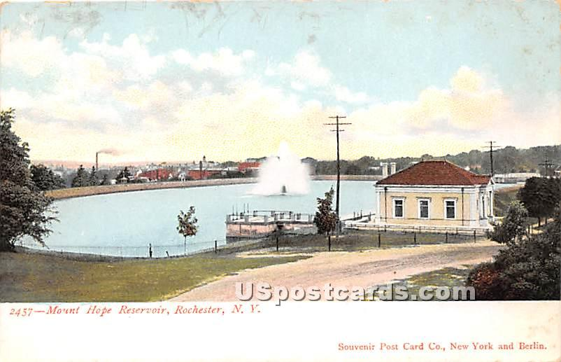 Mount Hope Reservoir - Rochester, New York NY Postcard
