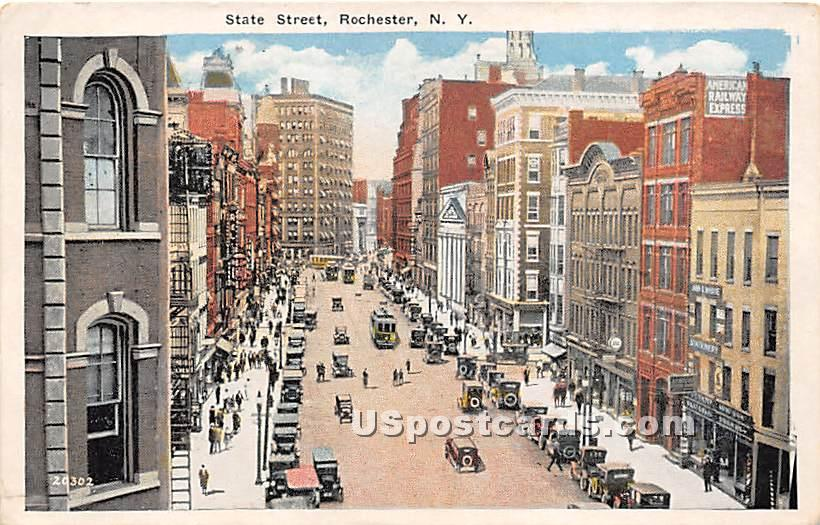 State Street - Rochester, New York NY Postcard