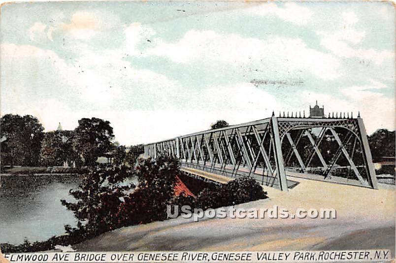 Elmood Ave Bridge - Rochester, New York NY Postcard