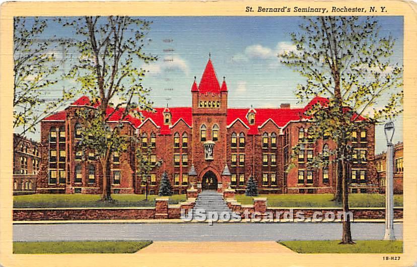 St Bernard's Seminary - Rochester, New York NY Postcard
