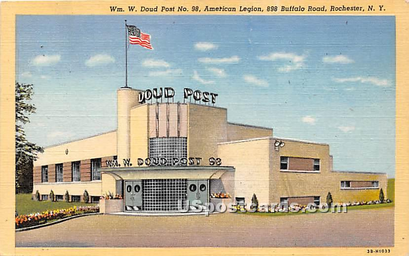 WM W Doud Post No 98, American Legion - Rochester, New York NY Postcard