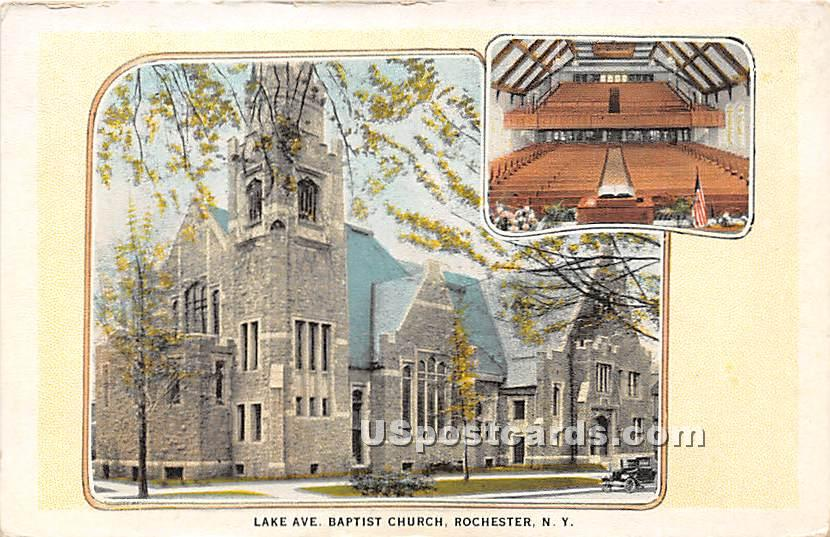 Lake Ave Baptist Church - Rochester, New York NY Postcard
