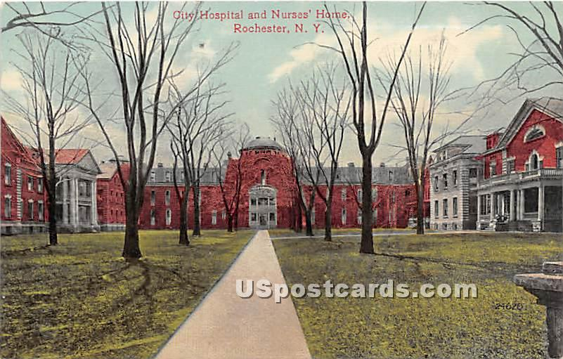 City Hospital & Nurses' Home - Rochester, New York NY Postcard