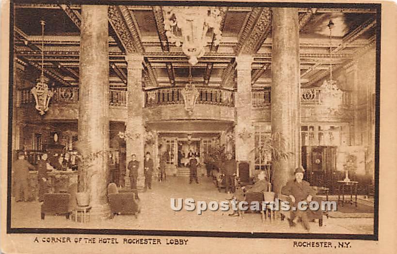 Hotel Rochester Lobby - New York NY Postcard