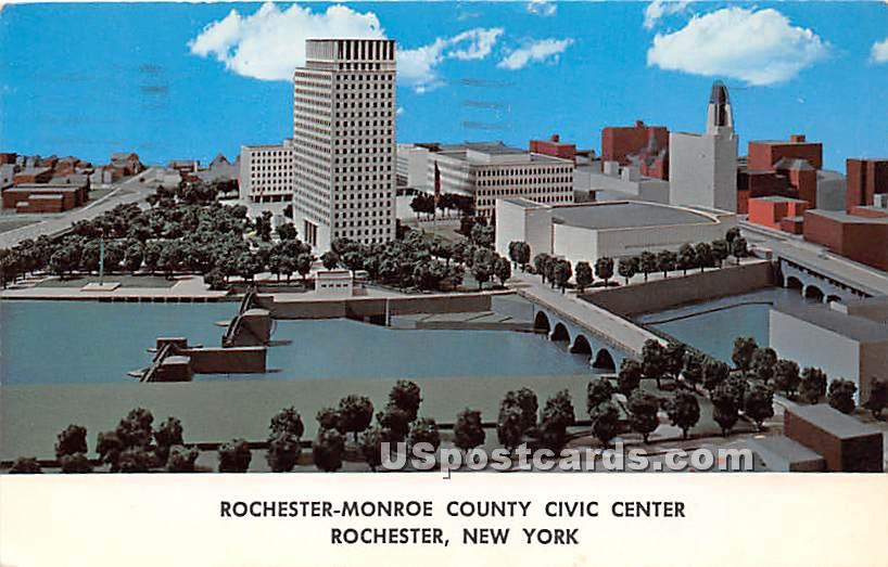 Rochester Monroe County Civic Center - New York NY Postcard