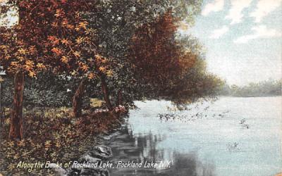 Banks Rockland Lake, New York Postcard