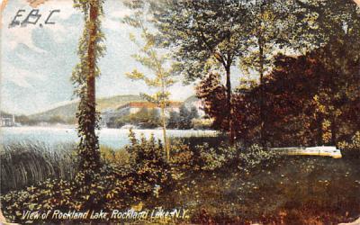 Lake View Rockland Lake, New York Postcard