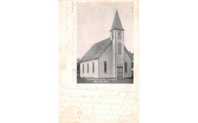 Congregational Church Roscoe, New York Postcard