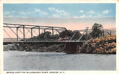 Bridge over the Willowemoc River Roscoe, New York Postcard