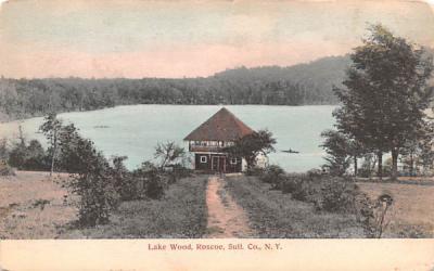 Lake Wood Roscoe, New York Postcard
