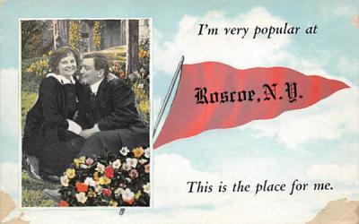 Im very polular at Roscoe, New York Postcard