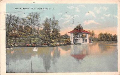 Lake in Seneca Park Rochester, New York Postcard