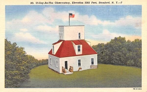 Mt Ut-Say-An-Tha Observatory Stamford, New York Postcard