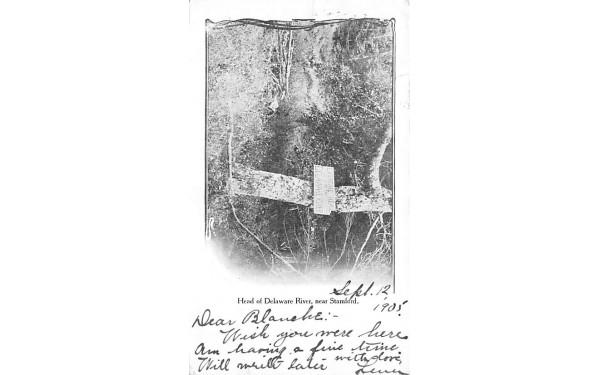 Head of Delaware River Stamford, New York Postcard