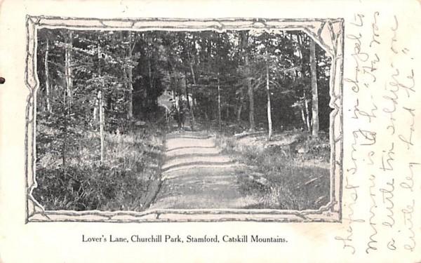 Lover's Lane Stamford, New York Postcard