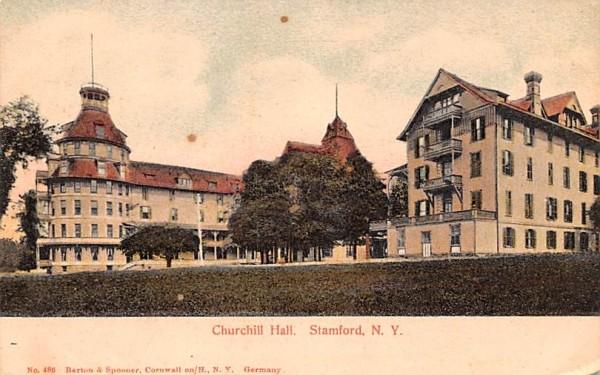 Churchill Hall Stamford, New York Postcard