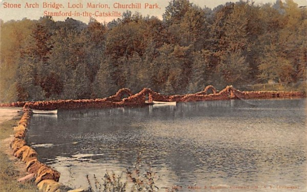 Stone Arch Bridge, Loch Marion Stamford, New York Postcard