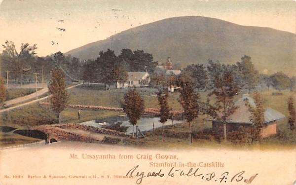 Mt Utsayantha from Craig Gowan Stamford, New York Postcard