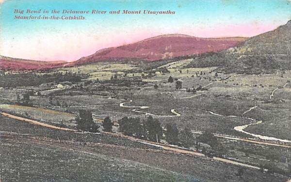 Big Bend in the Delaware River Stamford, New York Postcard