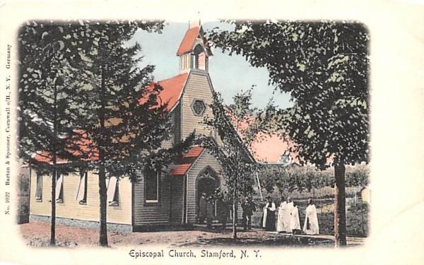 Episcopal Church Stamford, New York Postcard